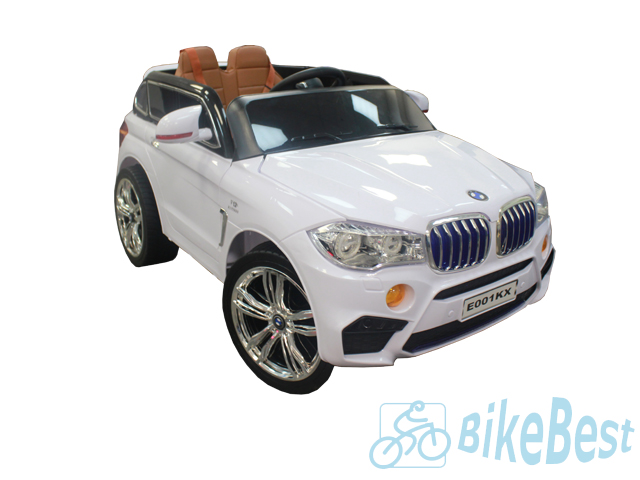 Электромобиль RiverToys BMW X5 E001KX — Белый